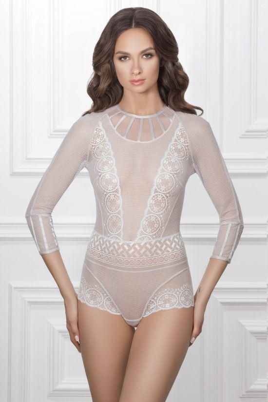 Боди EVELINA - Jasmine Lingerie, цвет: серый/розовый