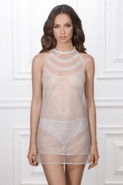 Нічна сорочка ADRIANA - Jasmine Lingerie сірий/рожевий