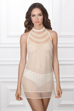 Нічна сорочка ADRIANA - Jasmine Lingerie молочний