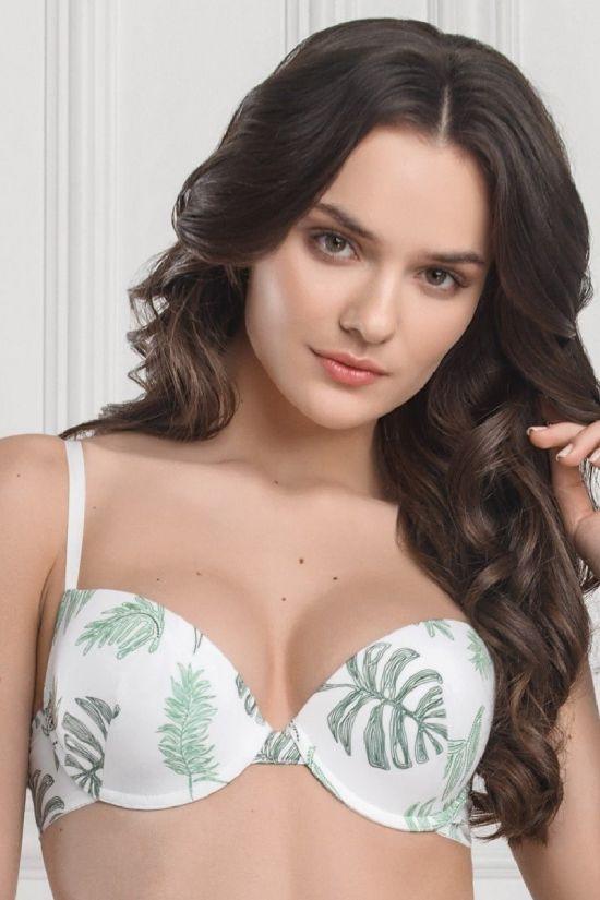 Бюстгальтер DELL - Jasmine Lingerie, колір: білий/зелений