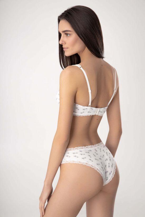 Комплект RIKA - Jasmine Lingerie, цвет: молочный/серый