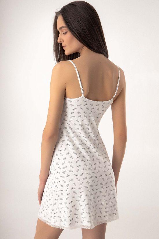 Ночная сорочка Rybina - Jasmine Lingerie, цвет: молочный/серый