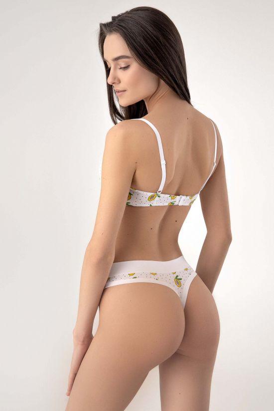 Комплект DENY - Jasmine Lingerie, колір: біло-помаранчевий