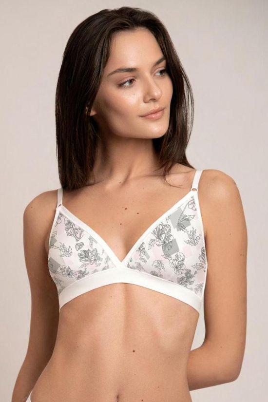 Браллет KRIS - Jasmine Lingerie, цвет: белый/серый