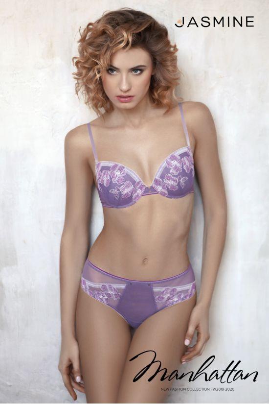 Комплект ENGY - Jasmine Lingerie, цвет: виноградный