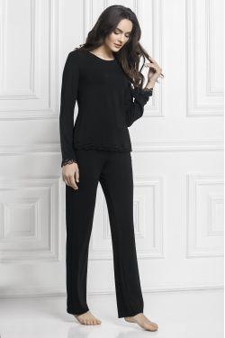 Комплект кофта+штани Bridgit  - Jasmine Lingerie чорний