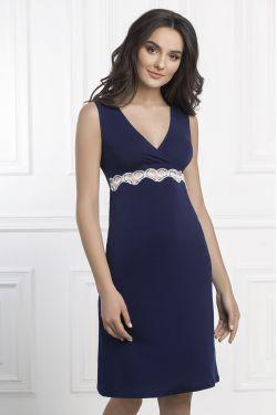 Ночная сорочка Aniela - Jasmine Lingerie синий/молочный
