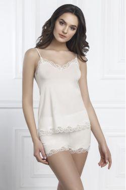 Комплект майка+шорты Arietta - Jasmine Lingerie молочный
