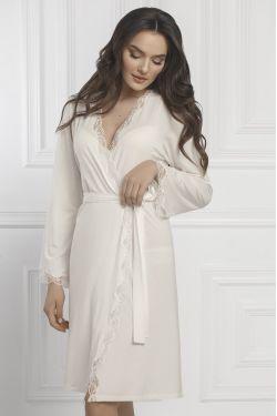 Халат Patrisia - Jasmine Lingerie молочный