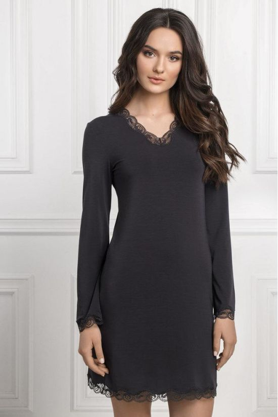 Ночная сорочка Elizabeth - Jasmine Lingerie, цвет: серый