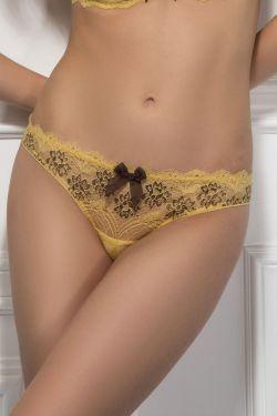 Трусики стринг BEATA - Jasmine Lingerie желтый