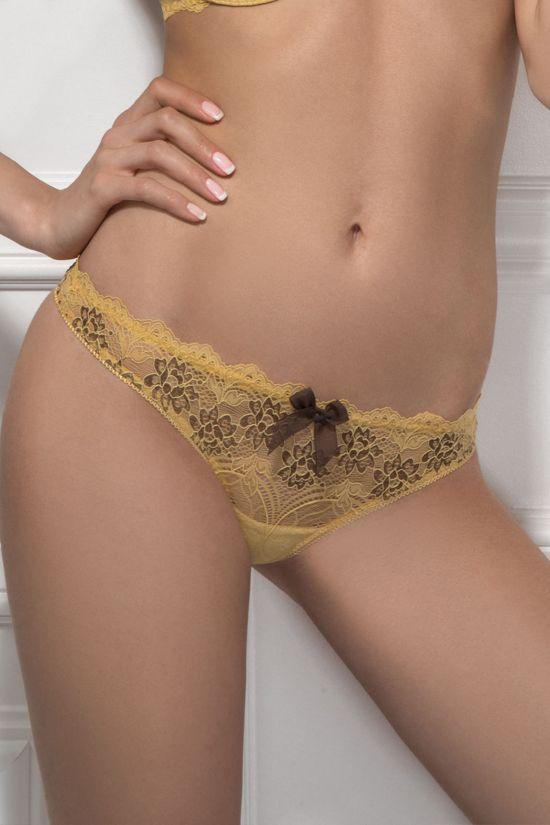 Трусики стринг BEATA - Jasmine Lingerie, цвет: желтый