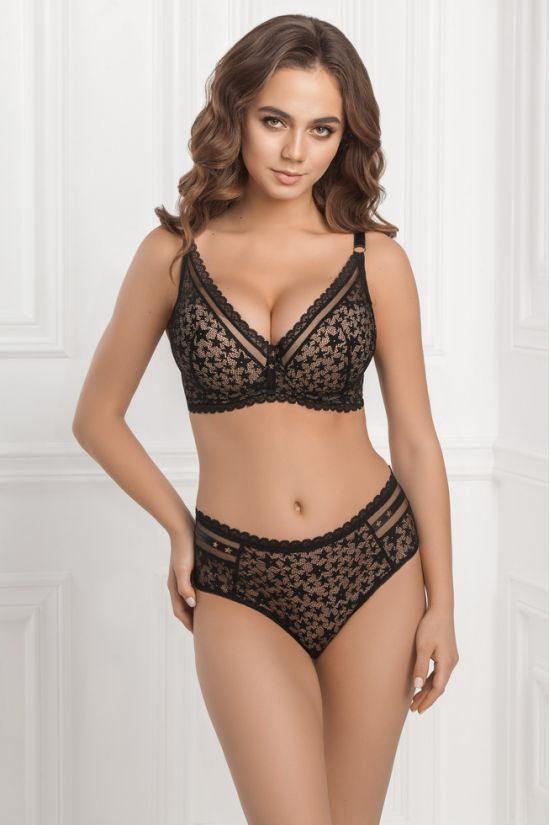 Комплект VEIN- Jasmine Lingerie, колір: чорний