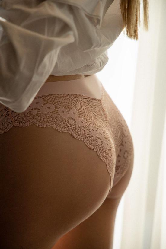 Трусики бразилиан ELONA  - Jasmine Lingerie, цвет: пудра