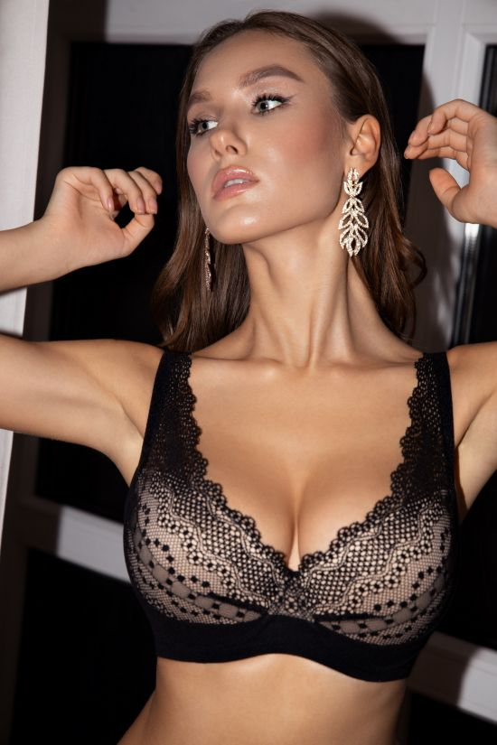 Бюстгальтер RONA - Jasmine Lingerie, колір: чорний