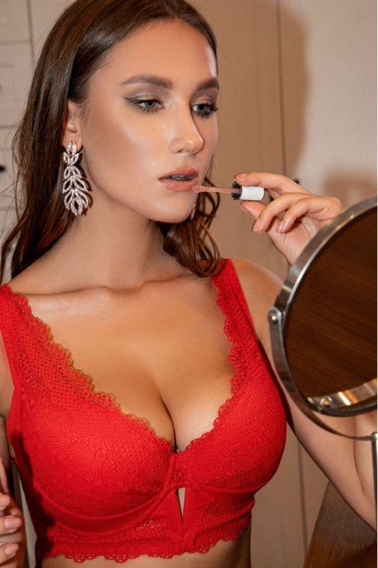 Бюстгальтер SARI - Jasmine Lingerie, колір: червоний
