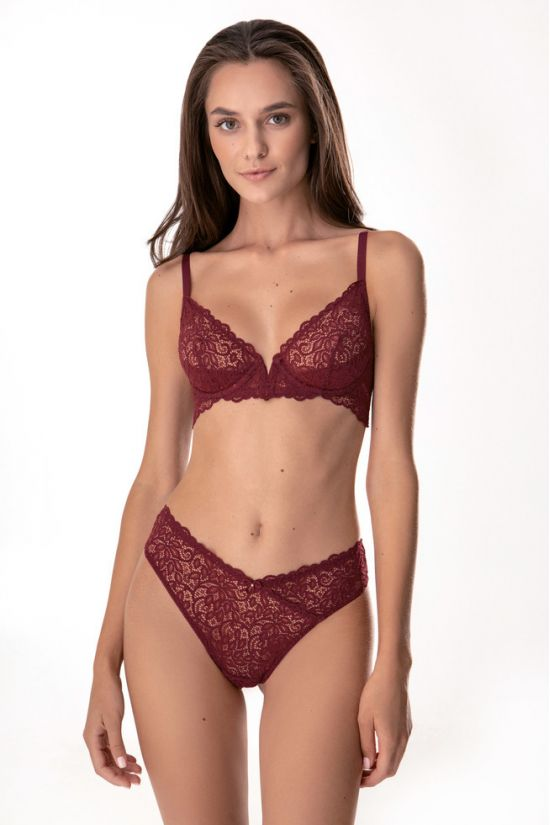 Комплект NILA - Jasmine Lingerie, цвет: винный