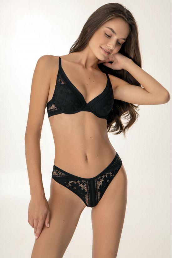 Комплект ALLY - Jasmine Lingerie, цвет:  черный