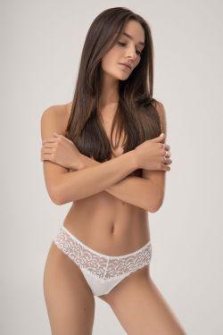 Трусики стринг CARIN - Jasmine Lingerie белый