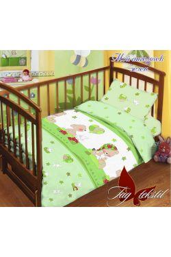 Комплект постельного белья детский в кроватку поплин Мой ангелочек - Таг текстиль