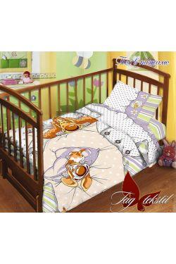 Комплект постельного белья детский в кроватку поплин Пес в пижаме - Таг текстиль