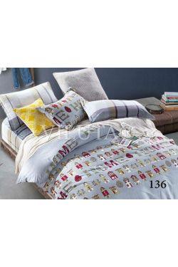 136 Комплект постельного белья подростковый Сатин - Вилюта
