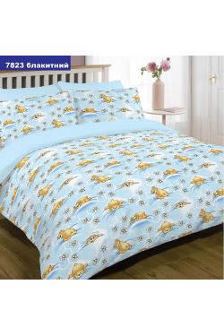 7823 голубой Комплект постельного белья детский ранфорс - Вилюта