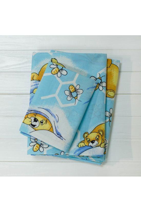 7823 блакитний Комплект постільної білизни дитячий ранфорс - Вілюта