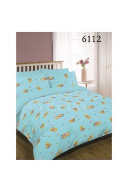6112 голубой Комплект постельного белья детский ранфорс - Вилюта