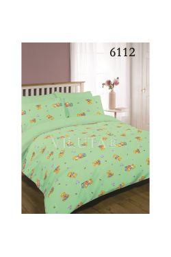 6112 зеленый Комплект постельного белья детский ранфорс - Вилюта