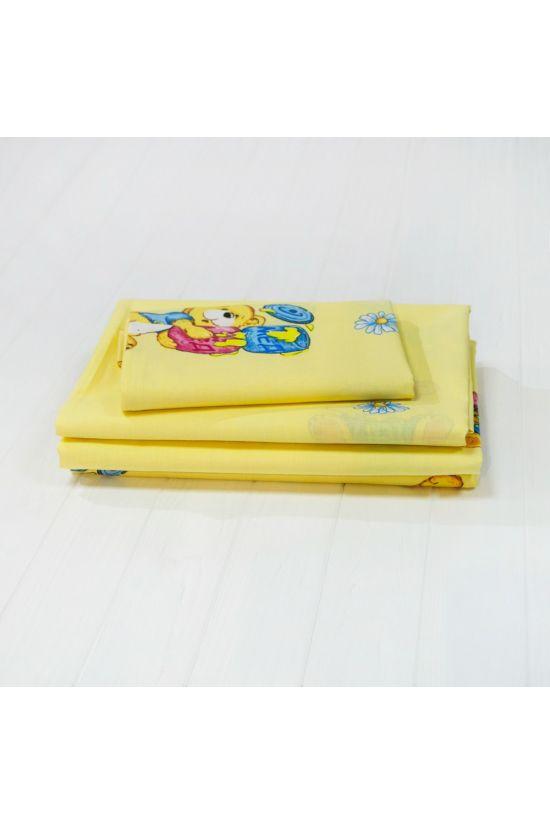 6112 желтый Комплект постельного белья детский ранфорс - Вилюта