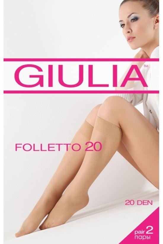 FOLLETTO 20 капроновые гольфы, 2 пары - Giulia