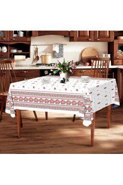 Цветочек белая  Скатерть - Комфорт-текстиль