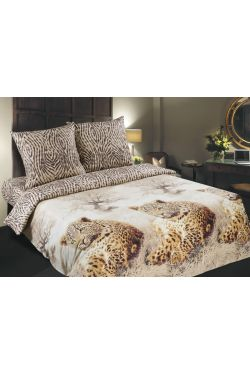Постельное белье поплин Леопарды - Комфорт-текстиль