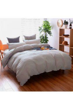 Постельное белье Пепельно розовый №320, лен - Комфорт-текстиль
